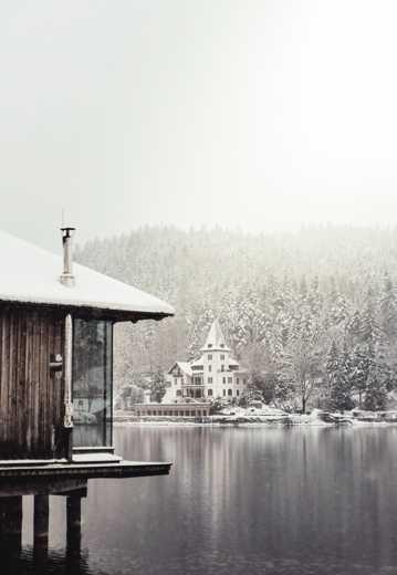唯美冬至雪天景致图片