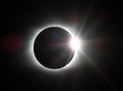 白天全日食图片