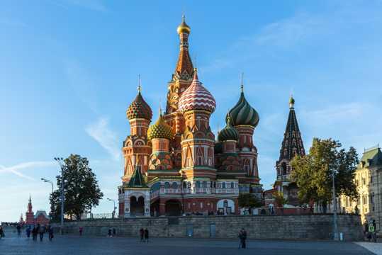 俄罗斯莫斯科红场建筑风光图片