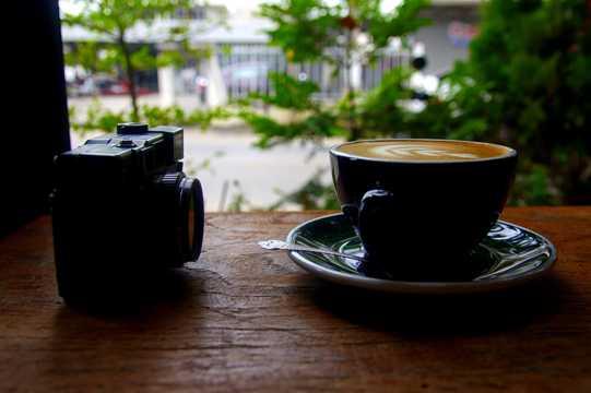 咖啡拉花高清图片