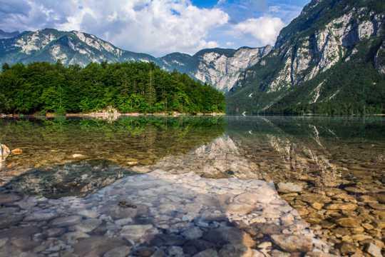 伯尼湖景色素材观赏
