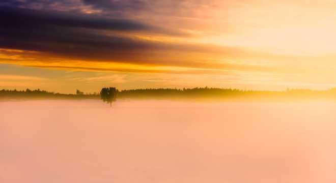 雪景朝阳图片