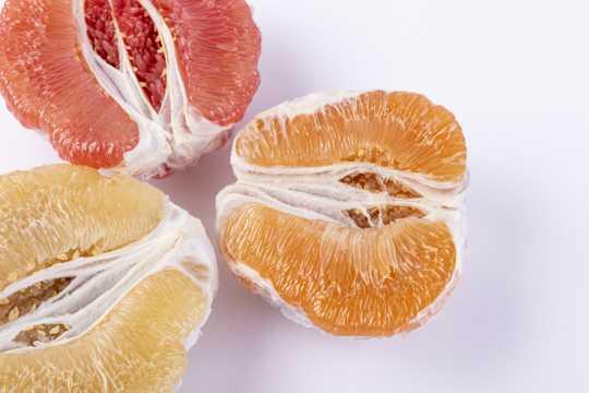 新鲜美食的蜜柚肉图片
