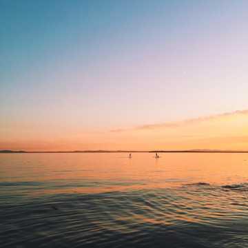 斜阳唯美海洋图片
