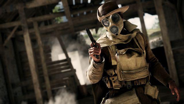 带防毒面具的西部牛仔