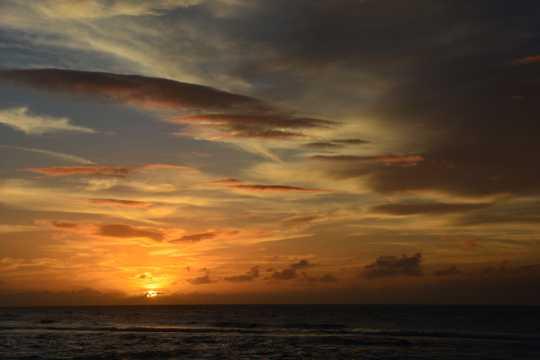夏威夷暮色美景图片