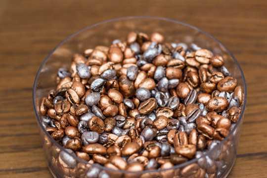 草本咖啡豆的图片
