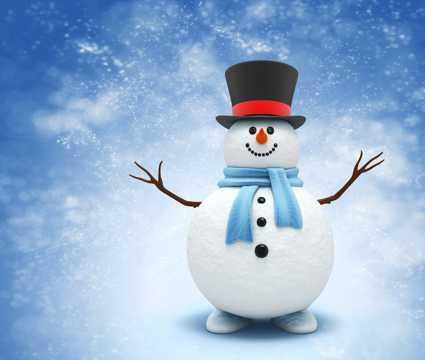 高清雪人图片