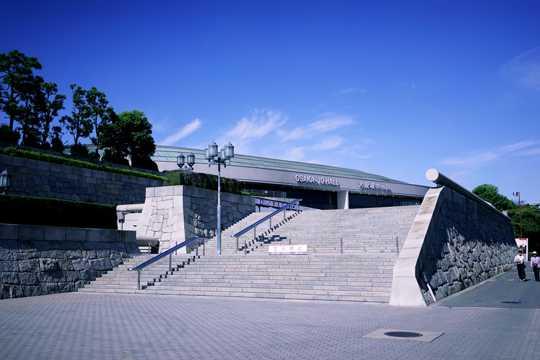 日本大阪城公园都市风光图片