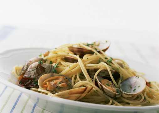 海鲜意大利面高清图片