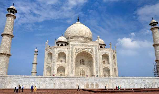 印度泰姬陵自然风光图片