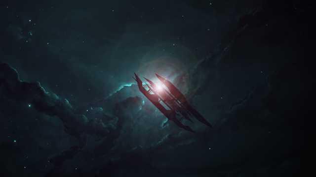 遥不可及的闪亮的夜空图片