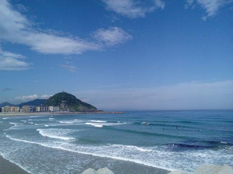 蓝天云层海洋景物图片