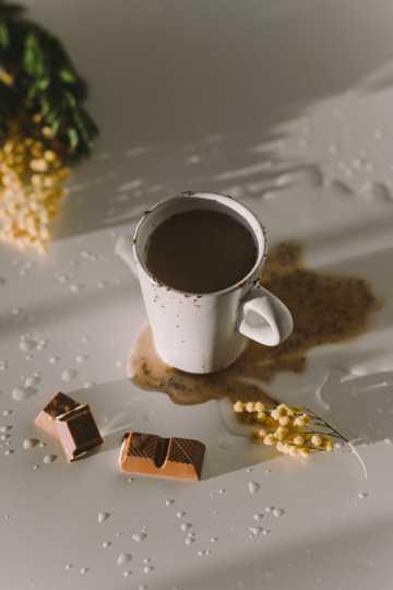巧克力味奶茶图片