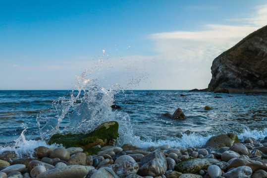 大海波浪景象图片