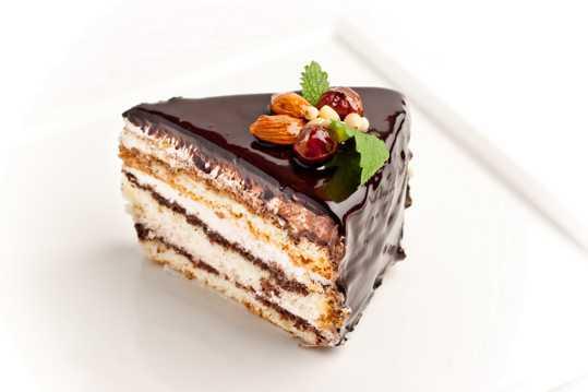 巧克力抹酱蛋糕图片