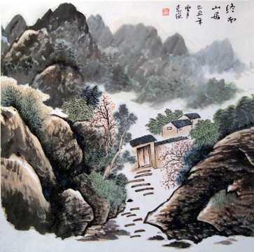 国画山川画图片