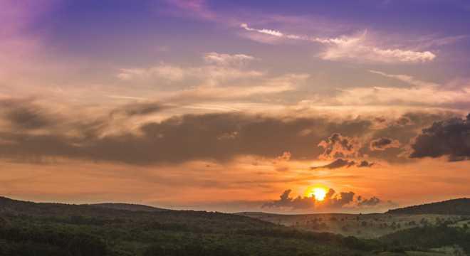日落云背景天空图片