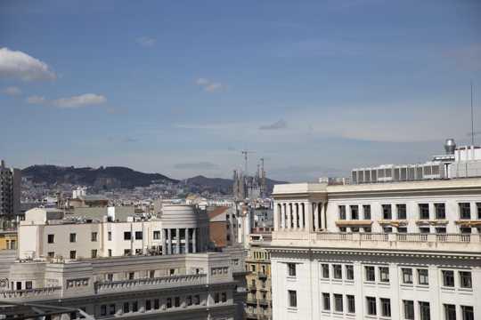 西班牙巴塞罗那景物高清图片