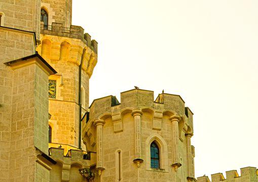 捷克赫卢博卡城堡建筑景色图片