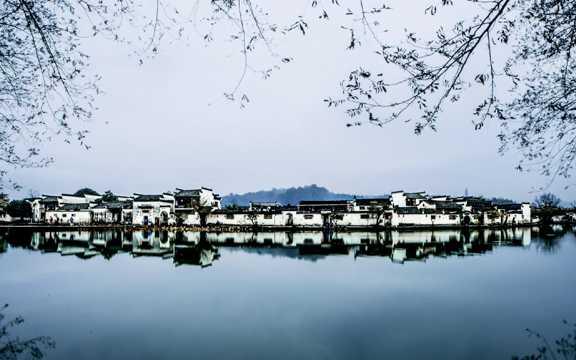 冬季徽州景物图片
