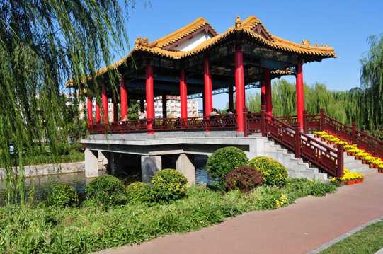 天津南翠屏公园景象图片
