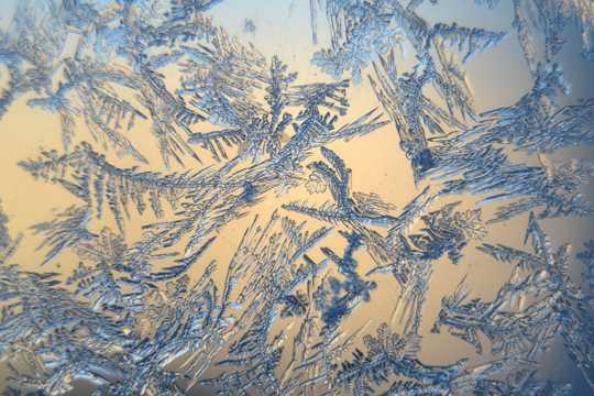 雪冰晶图片