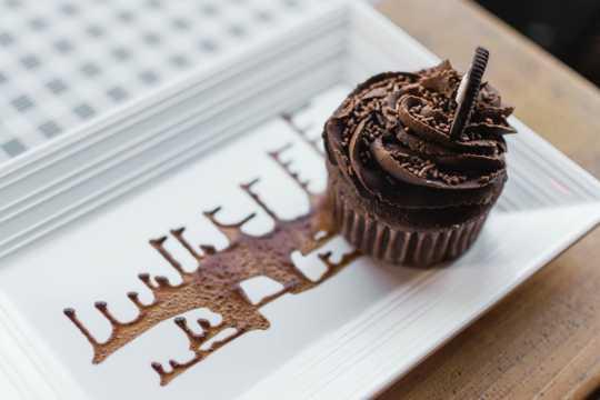 奥利奥巧克力纸杯蛋糕图片