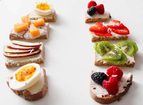 迷人的水果面包图片