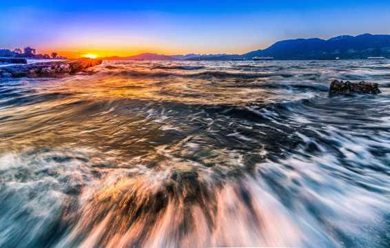 加拿大温哥华杰利科沙滩景色图片