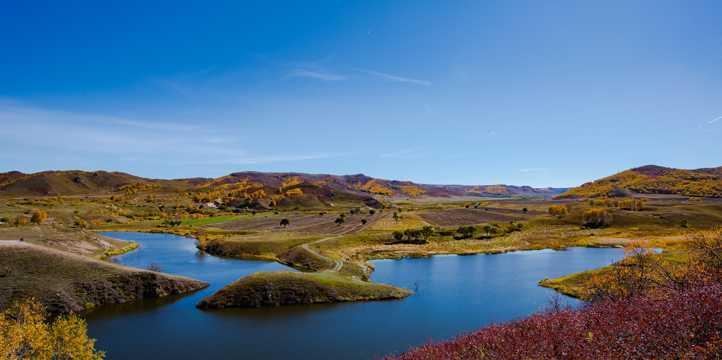 内蒙古蛤蟆坝自然风光高清图片