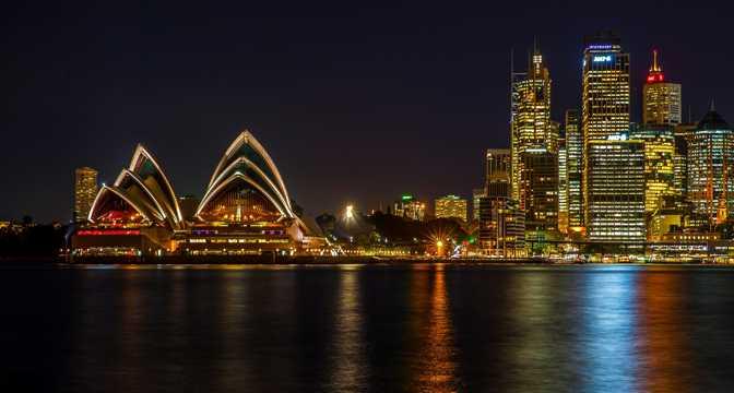 澳大利亚悉尼夜景景色图片