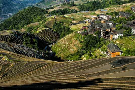 广西龙脊梯田光景高清图片
