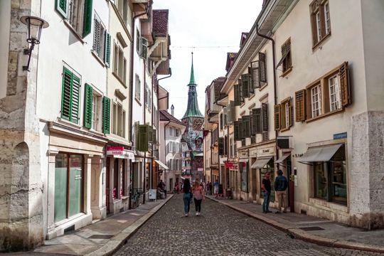 瑞士索洛图恩建筑景象图片