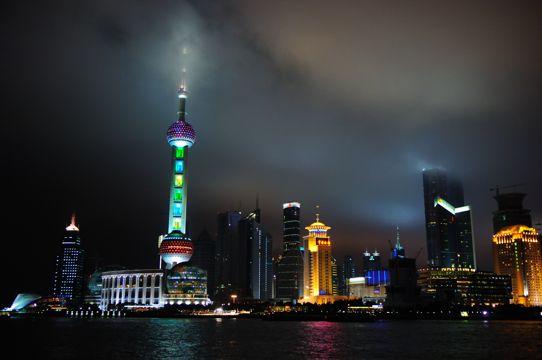 上海浦东建筑自然风光图片