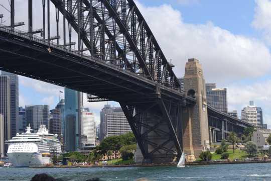 澳大利亚悉尼单孔大桥景致图片