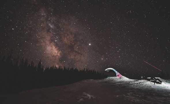 夜色繁星点点图片