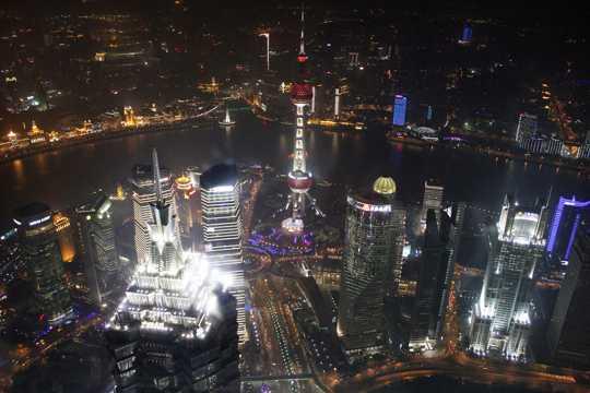 上海陆家嘴景象图片