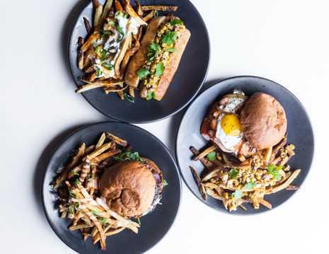 西式汉堡沙拉套餐图片