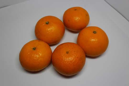 橙色沃柑图片
