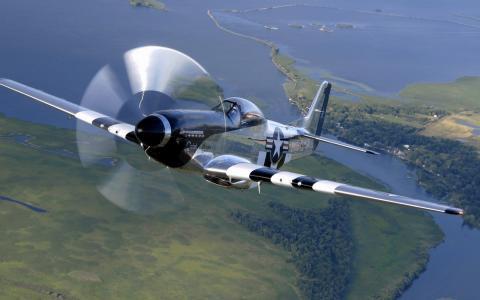 北美p-51,野马,美国人