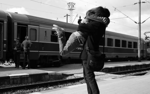 拥抱,爱,训练