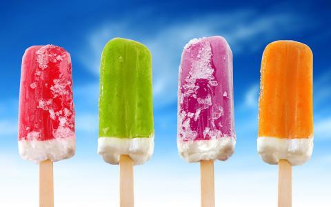 冰淇淋,糖果,五颜六色,颜色,天空