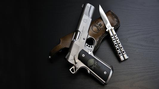 手枪,刀,皮套,蝴蝶刀,武器