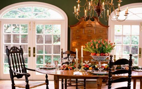 房子,风格,室内,房间,设计,别墅,餐厅