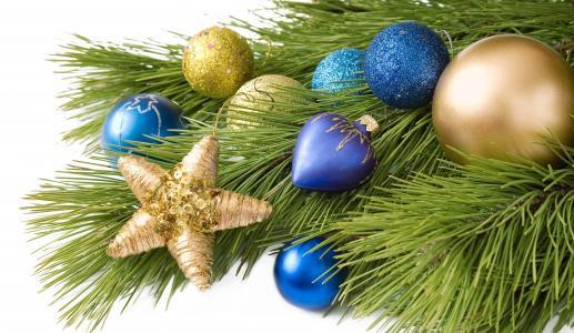 圣诞节,球,毛皮树,新的一年,玩具,球,饰品