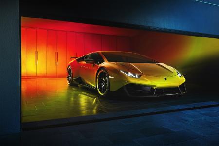 兰博基尼,超级跑车,黑暗的背景