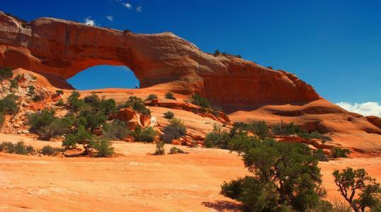 美国,犹他州,峡谷,山谷,美景,拱门