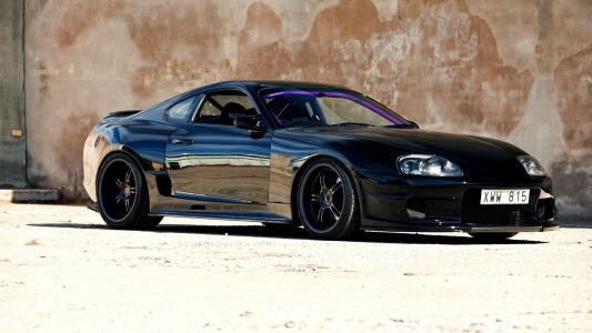 黑色,汽车,调整,汽车,日本,超,壁纸,jdm,丰田,壁纸