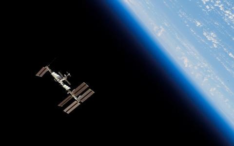 地球,空间,微型,行星,站,轨道